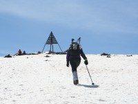 Llegando a la cima del Jbel Toubkal (4167m)